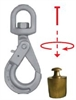 Grade 10 Eye Swivel Self Locking Hook c/w Bearing for rotation under load