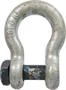 Blue Pin Galvanised Square Head Bow Shackles